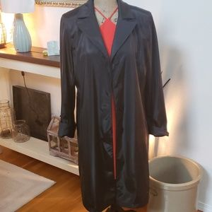 Utex design black trench coat fully lined m
